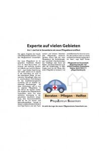In der Liederbacher Zeitung wird der neue PflegeDienst Frankfurt vorgestellt.